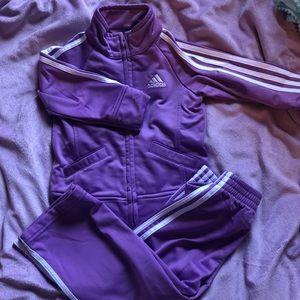 Girls 12m Lavender adidas track suit